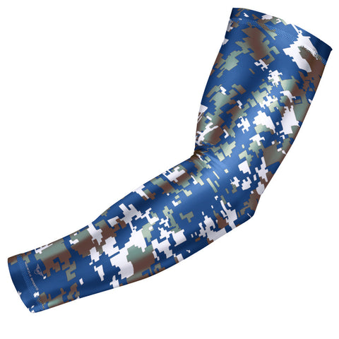 Blue Gray Digital Camo Arm Sleeve