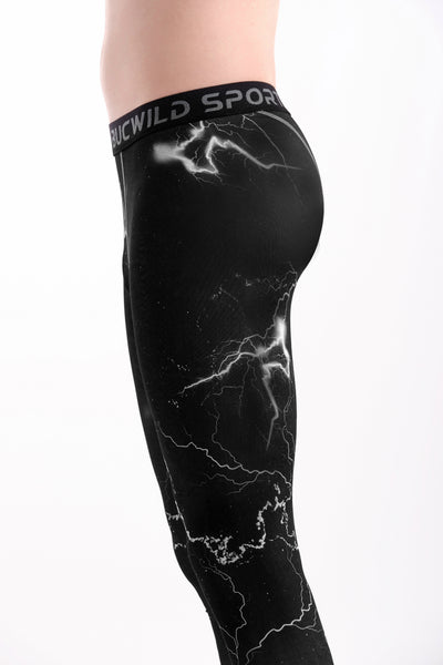 3/4 Compression Pants/Tights - Lightning