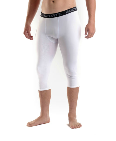 3/4 Compression Pants/Tights - White