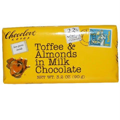 Chocolove Milk Choc Toffee & Almond Bar (12x3.2 Oz) - Rhea Manor Natural Market