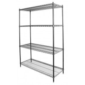"Wire Shelving Chrome or Green Epoxy 24x24"" (Per Shelf Post Sold Separate) - Food Service Supply"