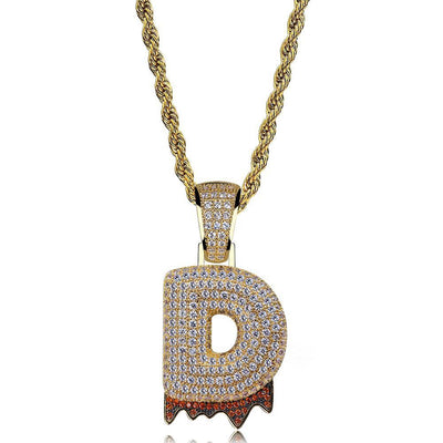 Drip Bubble Letter Pendant + Necklace