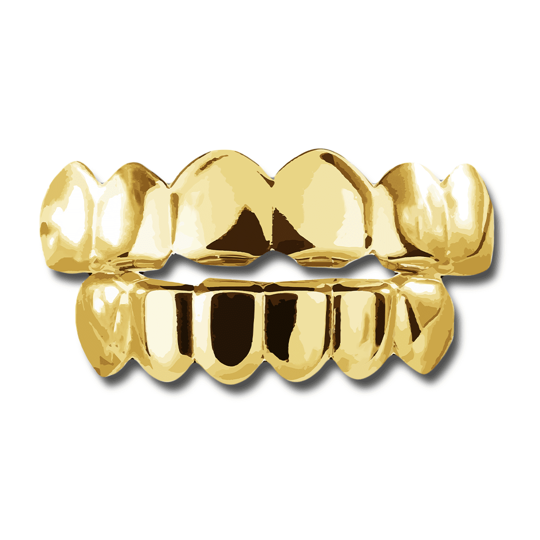 (Pre-Made) 14k Gold Plated Grillz | Yellow/Rose/Silver - Top/Bottom/Set