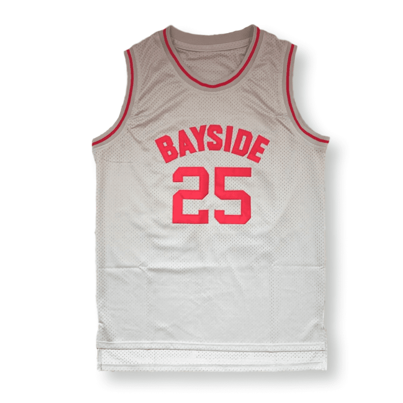 Saved By The Bell - Zack Morris #25 Bayside Tigers Basketball Jersey