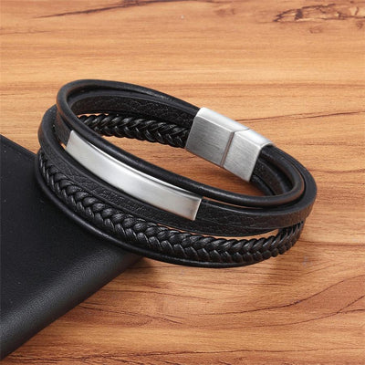 Genuine Leather Multilayer Bracelet