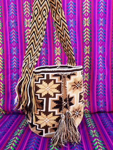 Tribal Hand Woven Vegan Bucket Bag - Estellas