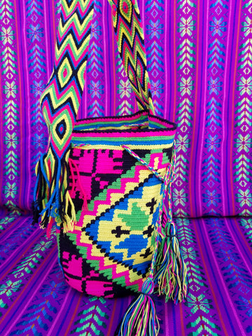 Tribal Hand Woven Vegan Bucket Bag - Isla