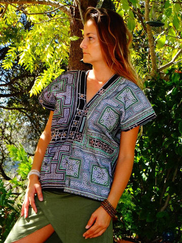 Tribal Hand Crafted Shirt - Seis