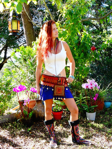 Tribal Hipster Belt with Pockets - Asclepius