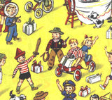 Party Play retro children Michael Miller yellow fabric