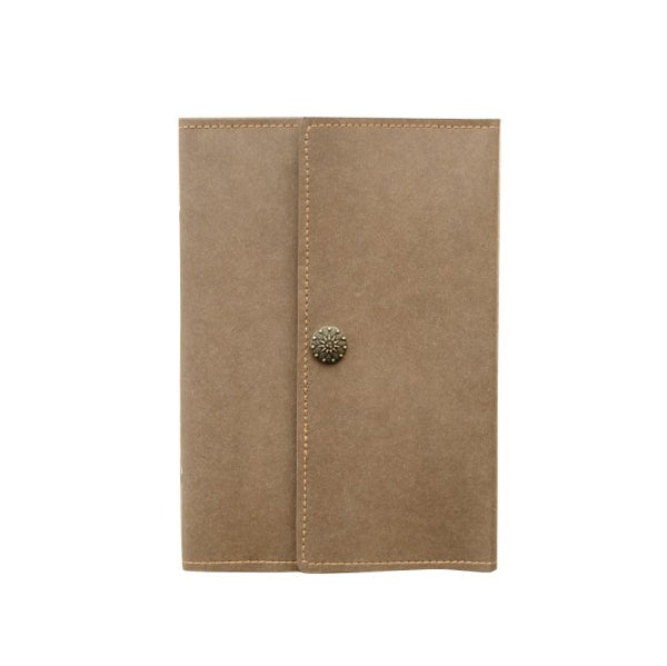 Kraft Paper Notebook Journal A5/A6 Loose-Leaf Travel Book Personalized Monogrammed Gift Custom Women Cute Journal
