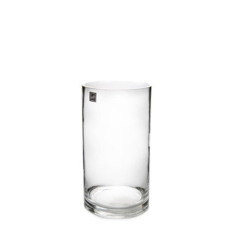 Clear Glass Cylinder Vase (20cm X 10cm)