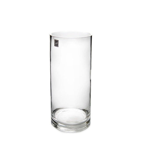 Clear Glass Cylinder Vase (30cm X 10cm)