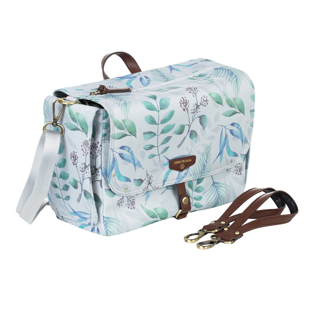 TWELVElittle On-The-Go Stroller Caddy in Leaf Print