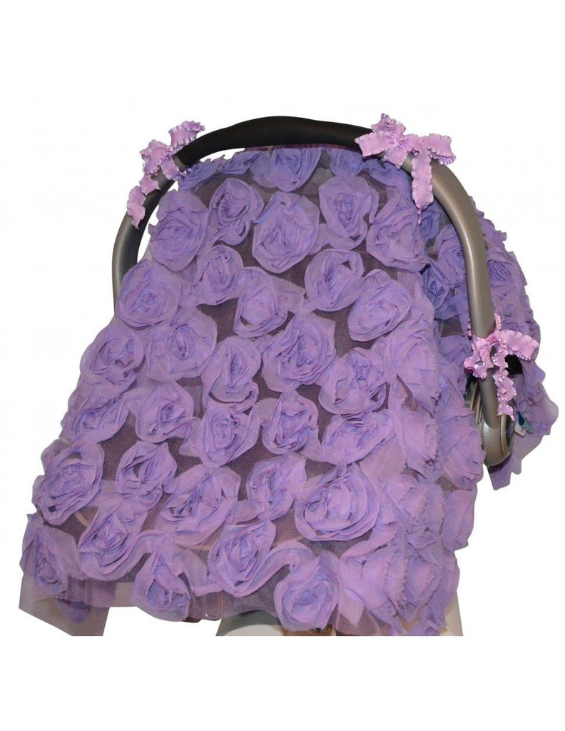 Tivoli Couture multiuse carseat & stroller cover 3D Roses in Radiant Orchid