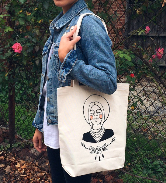 Embroidered Cowgirl Tote Bag