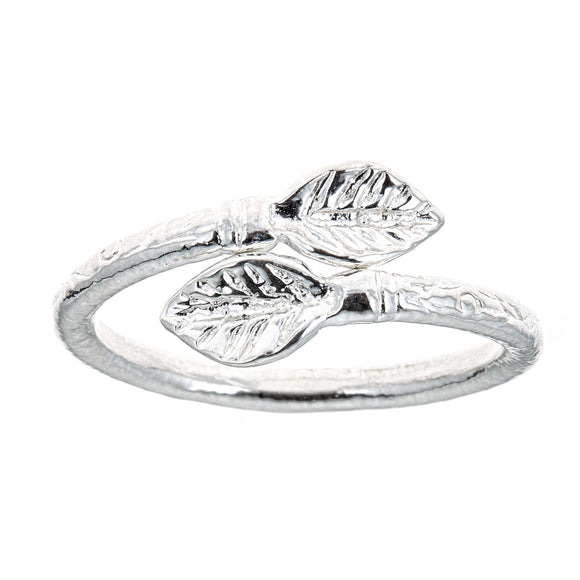 Leaf Ends .925 Sterling Silver West Indian Style Ring - Betterjewelry