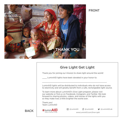 Give Light Program-Give Light, Get Light Package-Disaster Relief-LUM-GLGL-CONV