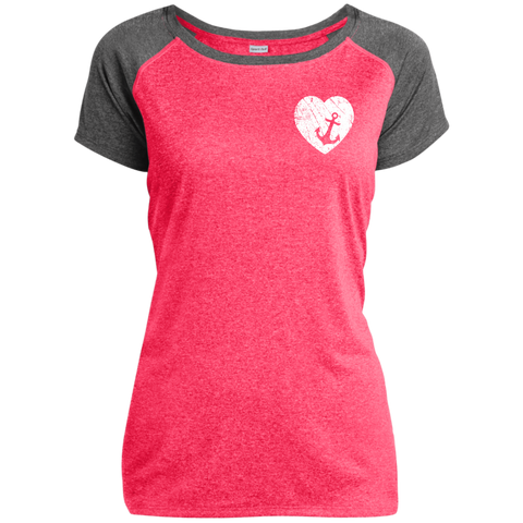 Heart Anchor Heather on Heather Performance T-Shirt