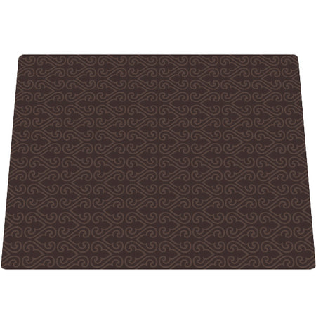 Amazing Microfiber Large Mat - Brown Filligree