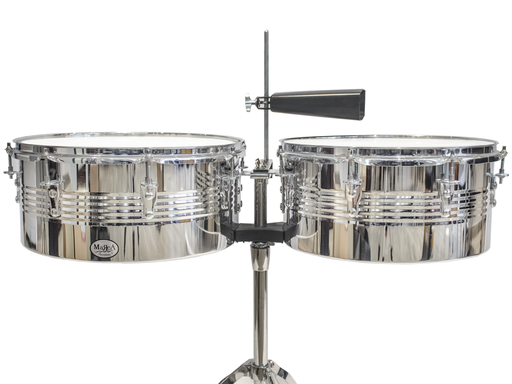 "Marea Percussion Timbal 14"" & 15"" with Cowbell"