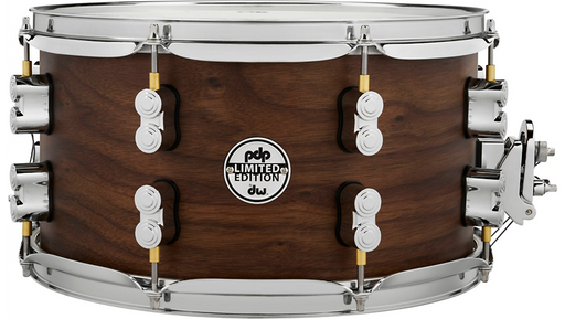 PDP by DW Concept Series Limited Edition 20-Ply Hybrid Walnut Maple Snare Drum 13 x 7 in. Satin Walnut