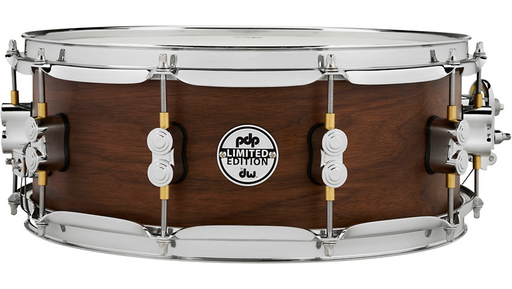 PDP Concept Series Limited Edition 20-Ply Hybrid Satin Walnut Maple Snare Drum