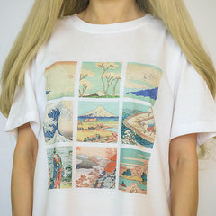 great wave off kanagawa tshirt