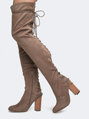 Lace Up Over The Knee Boot