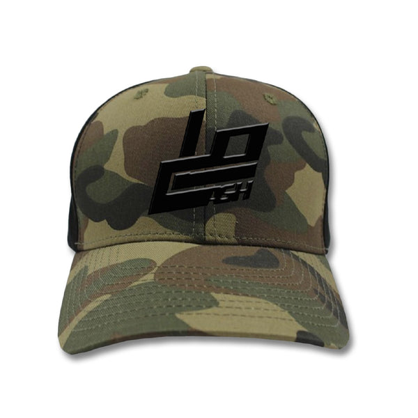 Embroidered Camo Snapback Hat