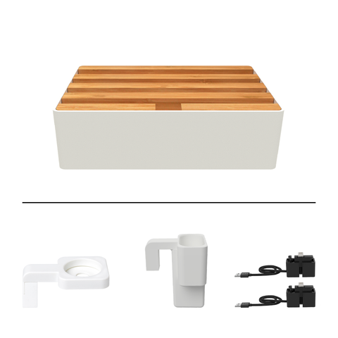 Medium White & Bamboo Package