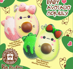 【Deal Of The Week】FatPawPaw Mini Avocado SCENTED Squishy, Extra Charm Included!