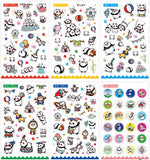 Panda Circus Stickers, A Set! 6 Different Sticker Sheets Included!