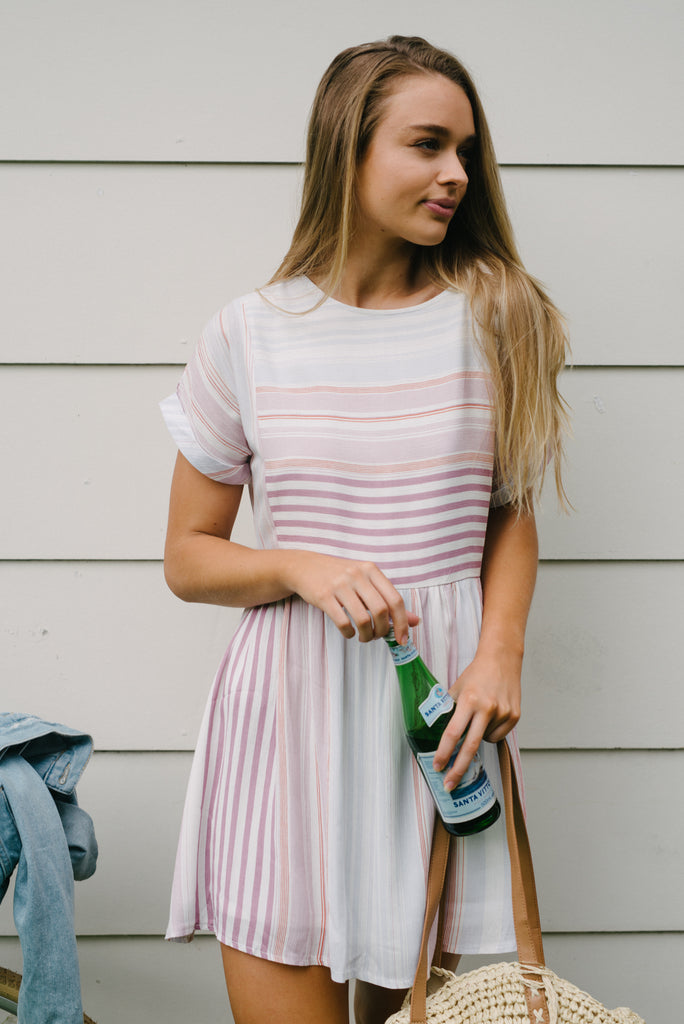 Candy Stripe Dress|  | Betty Lane Womens Clothing Victoria