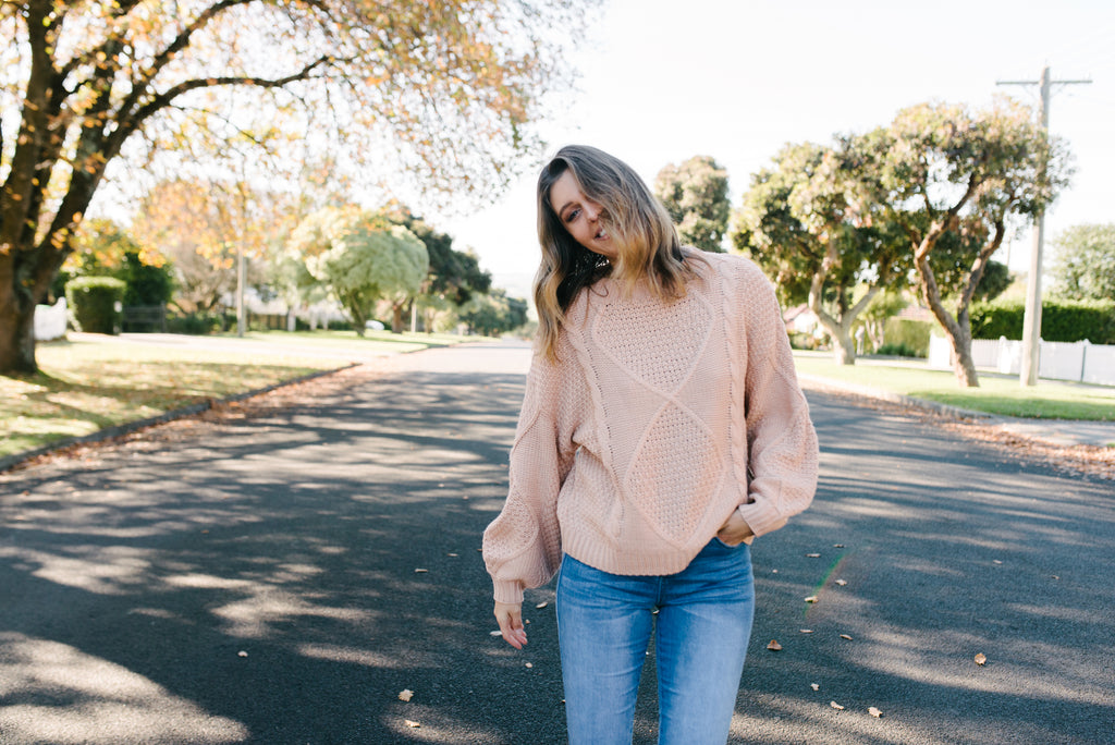 Dakota Sweater - Blush