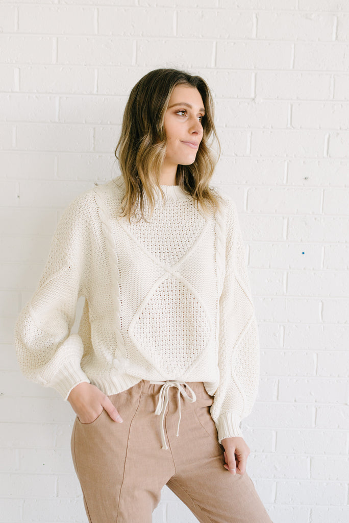 Dakota Sweater - Cream