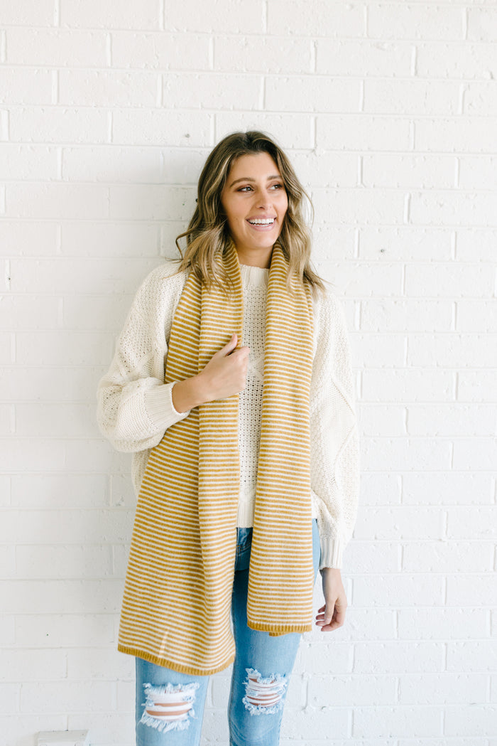 Team Stripes Scarf - Mustard
