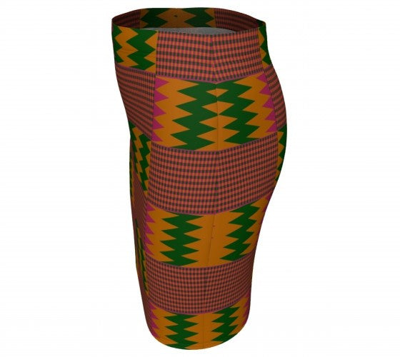 Pink kente fitted skirt