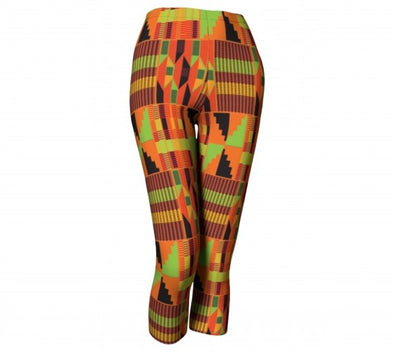 kente capri leggings