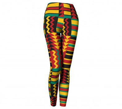tribal kente leggings