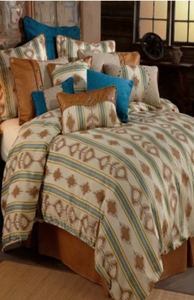 Cowgirl Kim Oatmeal Madison Square Linen Pillow