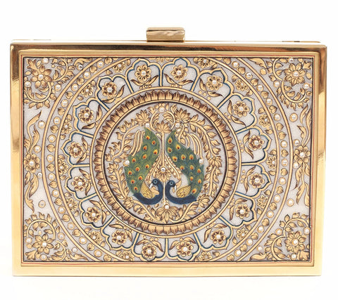 Unabashed™ Medallion Hand-Painted Marble Clutch- Lovebird - Not Only Bags