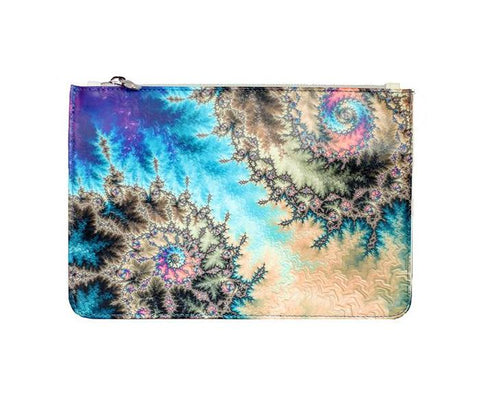 Unabashed™ Fractal Art Pouch- Multi Swirl - Not Only Bags