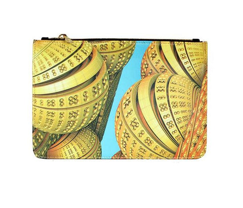 Unabashed™ Fractal Art Pouch- Yellow Spheres - Not Only Bags