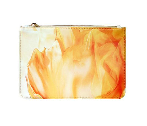 Unabashed™ Fractal Art Pouch- Orange Floral - Not Only Bags