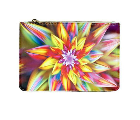 Unabashed™ Fractal Art Pouch- Multi Floral - Not Only Bags