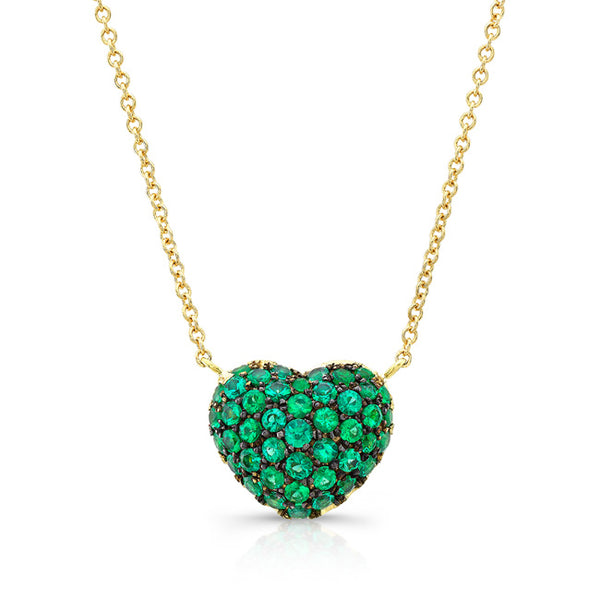 Emerald Full Heart Necklace