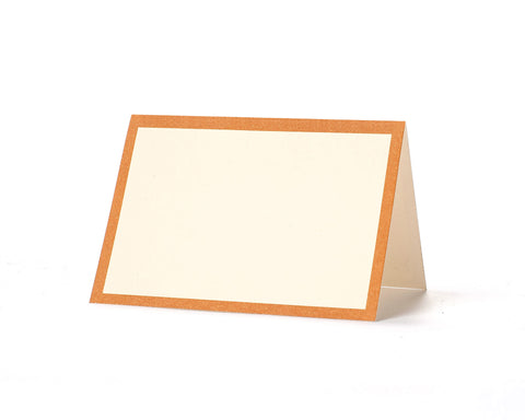 Orange Frame Place Cards
