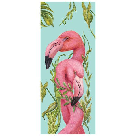 Tropical Flamingos Card