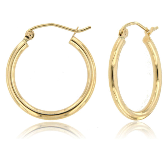 Dainty and Sleek 14k Yellow Gold Hoop Earrings ⊶Various Sizes Available⊷